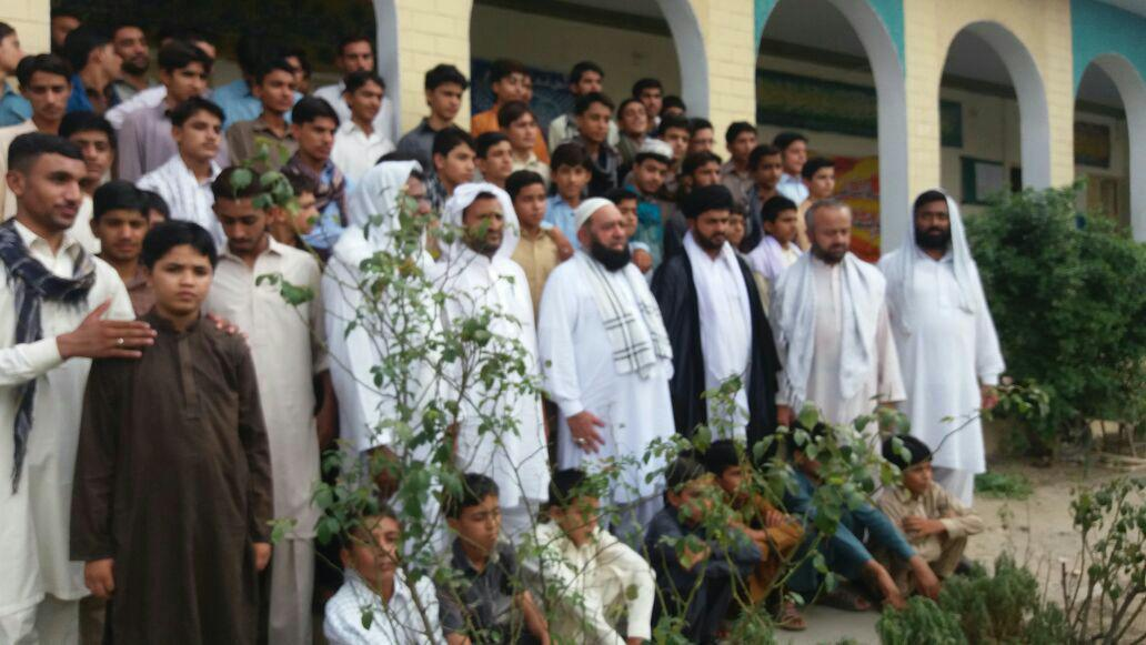 علامہ سید افتخار حسین نقوی اور طلاب جامعہ