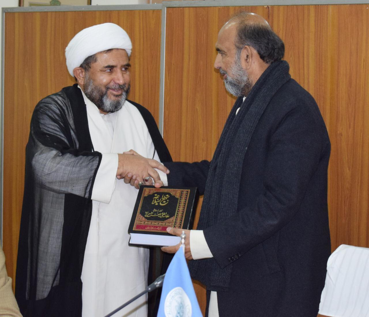 اسلامی نظریاتی کونسل کے چیئرمین جناب محترم ڈاکٹر قبلہ ایاز صاحب کو نہج البلاغہ پیش کی گئی